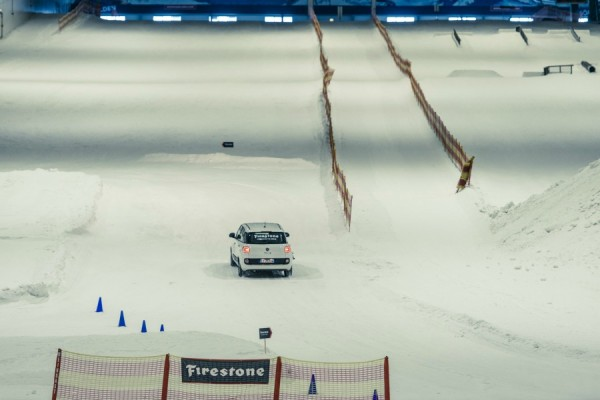 Firestone show how easy it is to drive on ice with their seasonal tyres