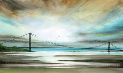 Hull artist Nicola Woodward Humber Bridge