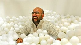 Co-founder Shamash Alidina playing in white ball pit